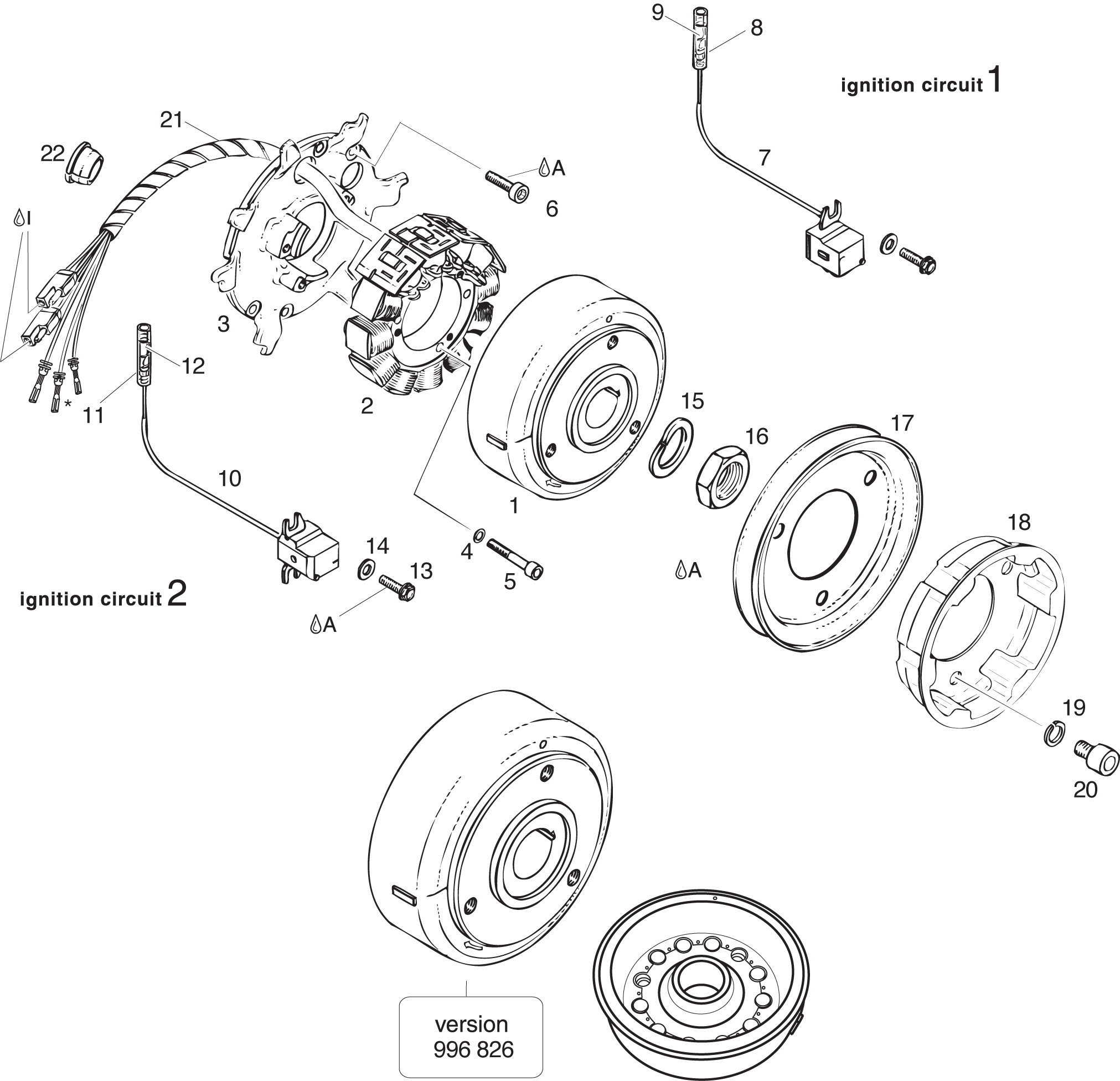 ROTAX 503 UL CDI Ducati Magneto