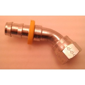 45° AN-8 Style Fitting For 9 Series Oil Systems