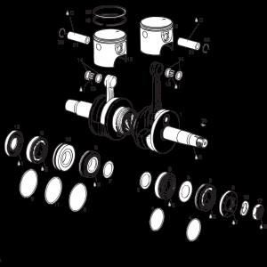 582 UL Mod. 90/99 Crankshaft