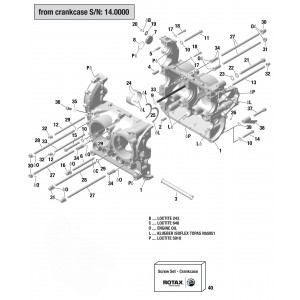 912 & 914 Crankcase from S/N 14.4000