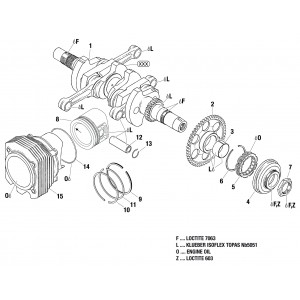 912 & 914 Crankshaft, Piston, Cylinder, Sprang Clutch