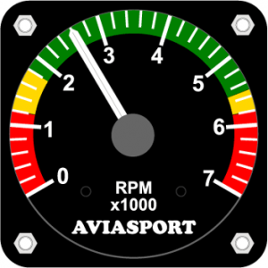"2-1/4"" Round Tachometer for 4-Cycle Engines by Aviasport"