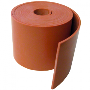"Silicone Engine Baffle Material, Orange 3/32"" Non-Reinforced"