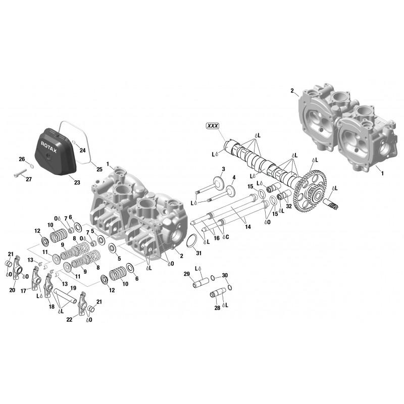 912 & 914 Cylinderhead, Valve Train, Valve Cover