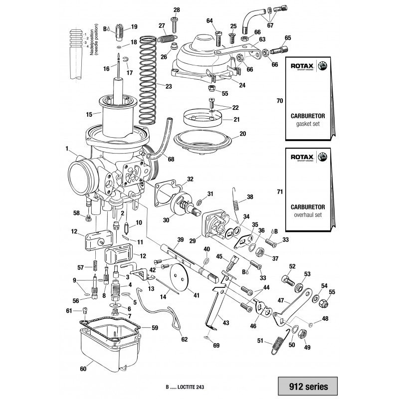 912 series carburetor - single parts