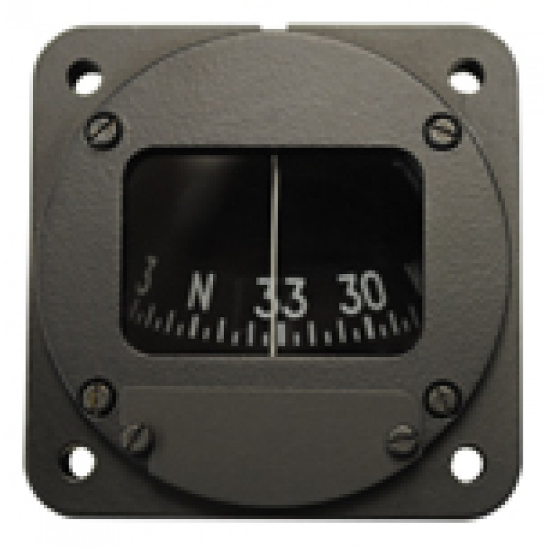 "2-1/4"" Panel Mount Compass (Unlighted), Northern Hemisphere, Imported"