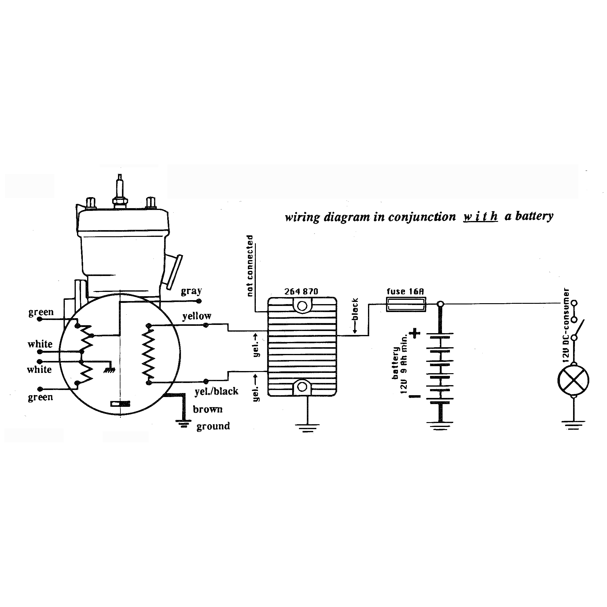 264 870with regulator rectifier, 2 stroke regulator rectifiers 2 stroke rotax 447 wiring diagram at alyssarenee.co