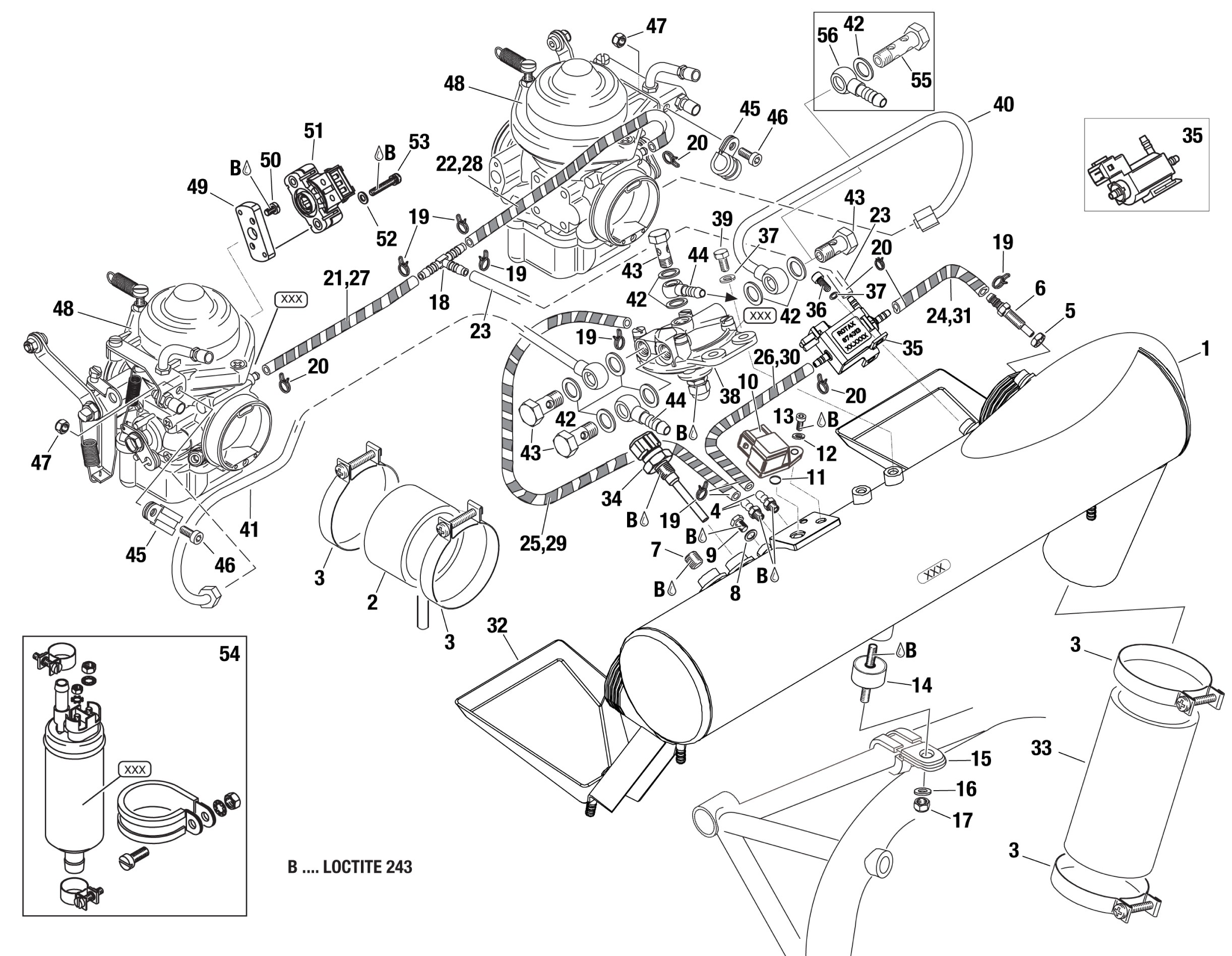 914 airbox assembly