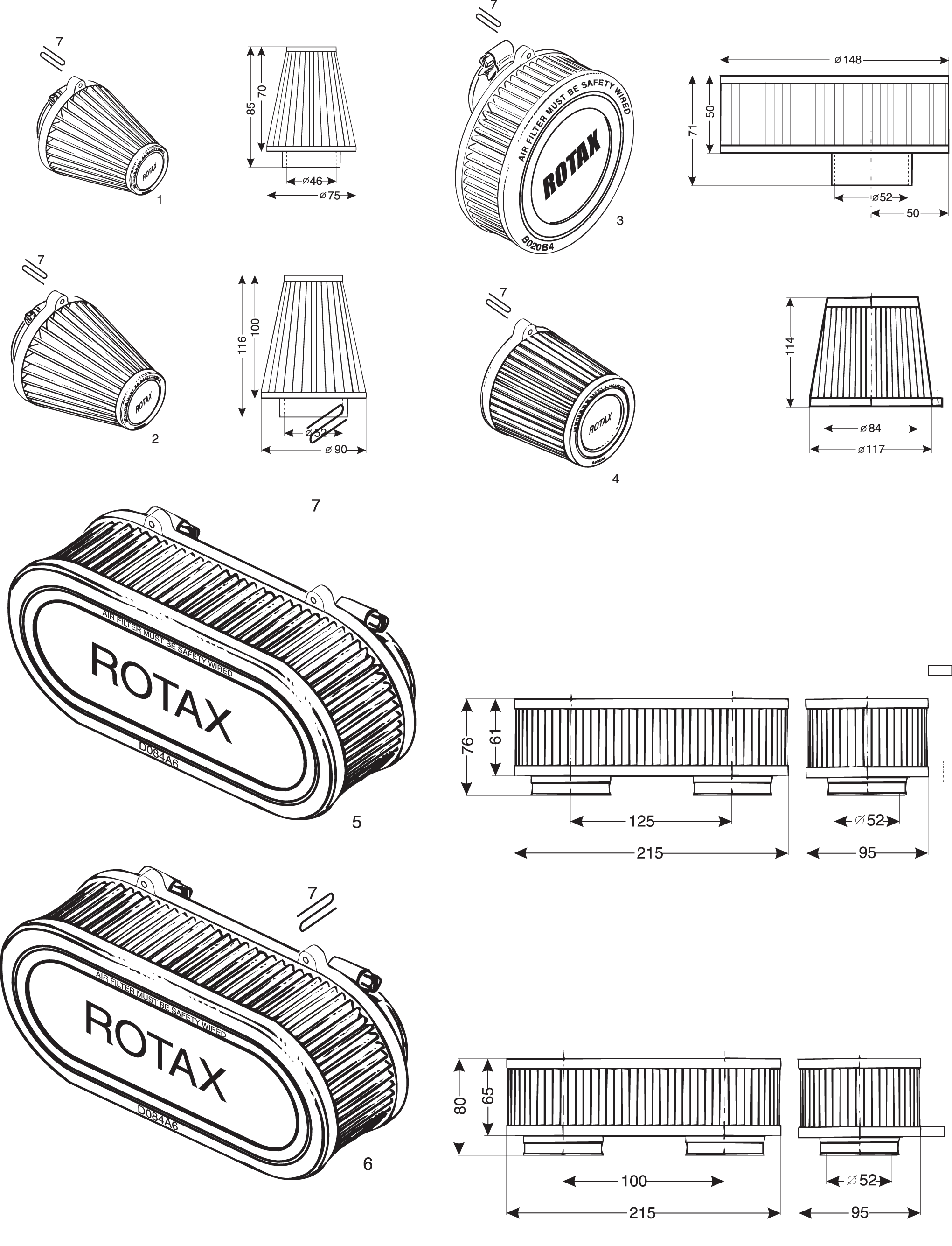 rotax air filters